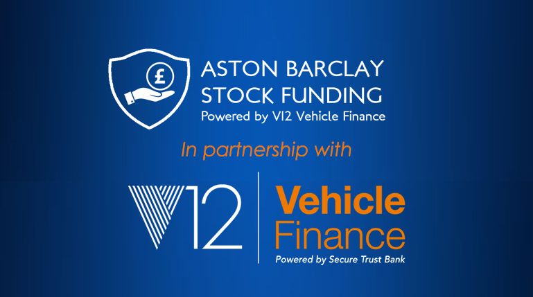 Aston Barclay stock funding, powered by V12 Vehicle Finance